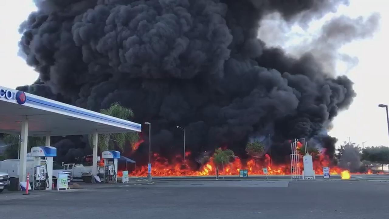 Fiery tanker-truck blast kills driver, closes highway