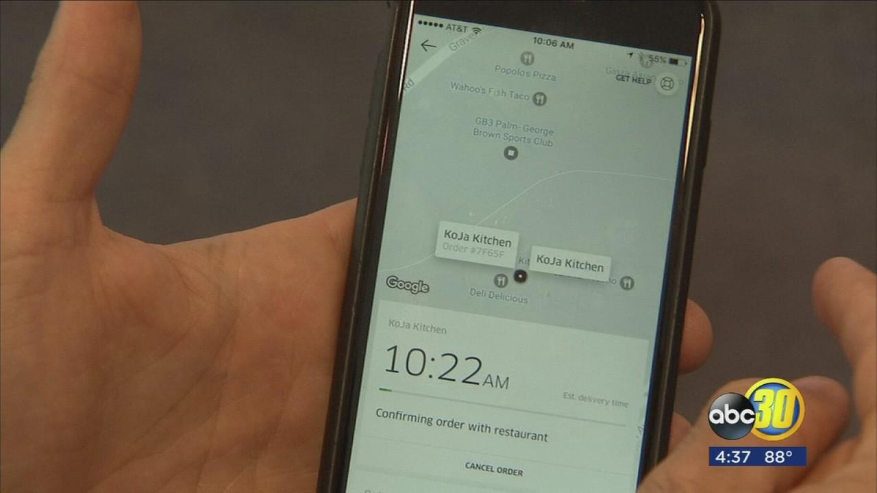 Fresno joins list of big cities around the globe to offer the Uber Eats app