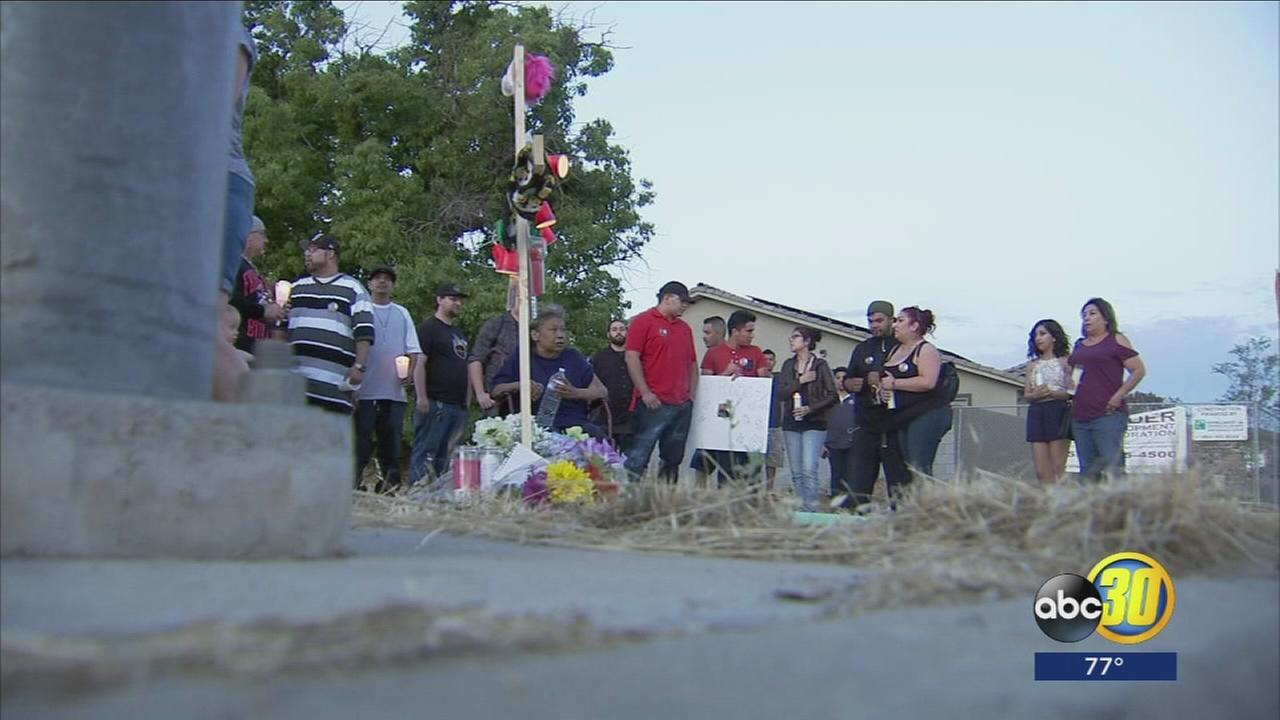 Family and friends gather to mourn the loss of man killed in hit and run in Northwest Fresno
