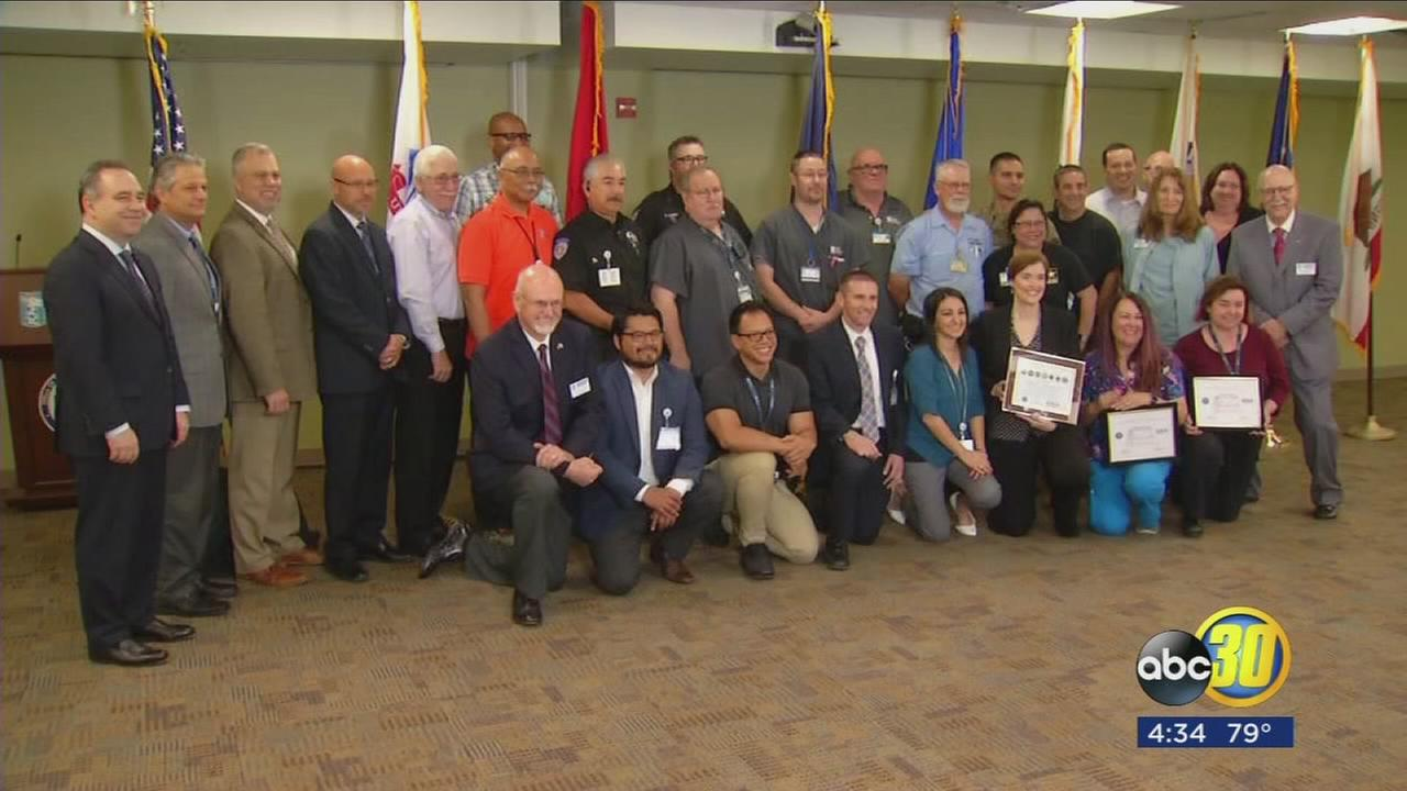 Department of Defense honoring Valley Childrens Hospital for supporting military personnel