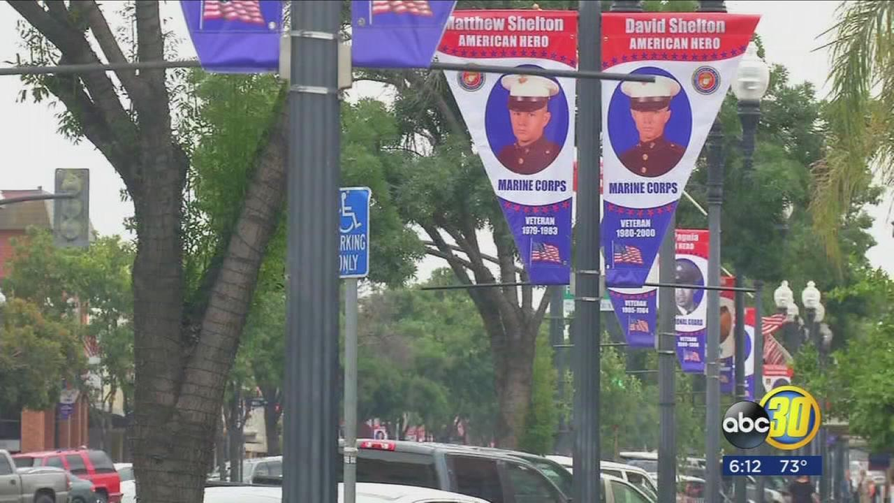 Porterville service members honored during ceremony, 77 new banners raised