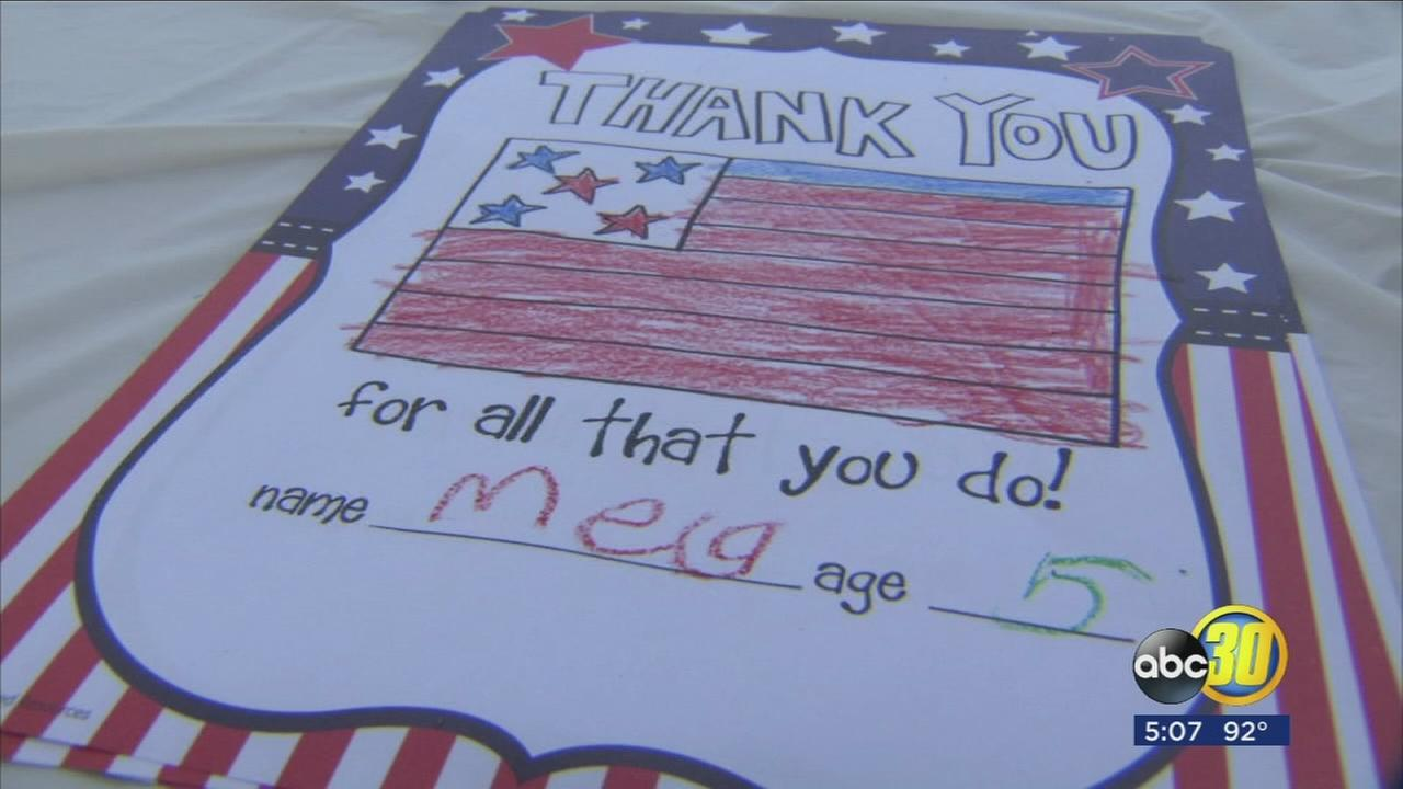 Students in Clovis enjoyed some patriotic fun at Bear Boot Camp