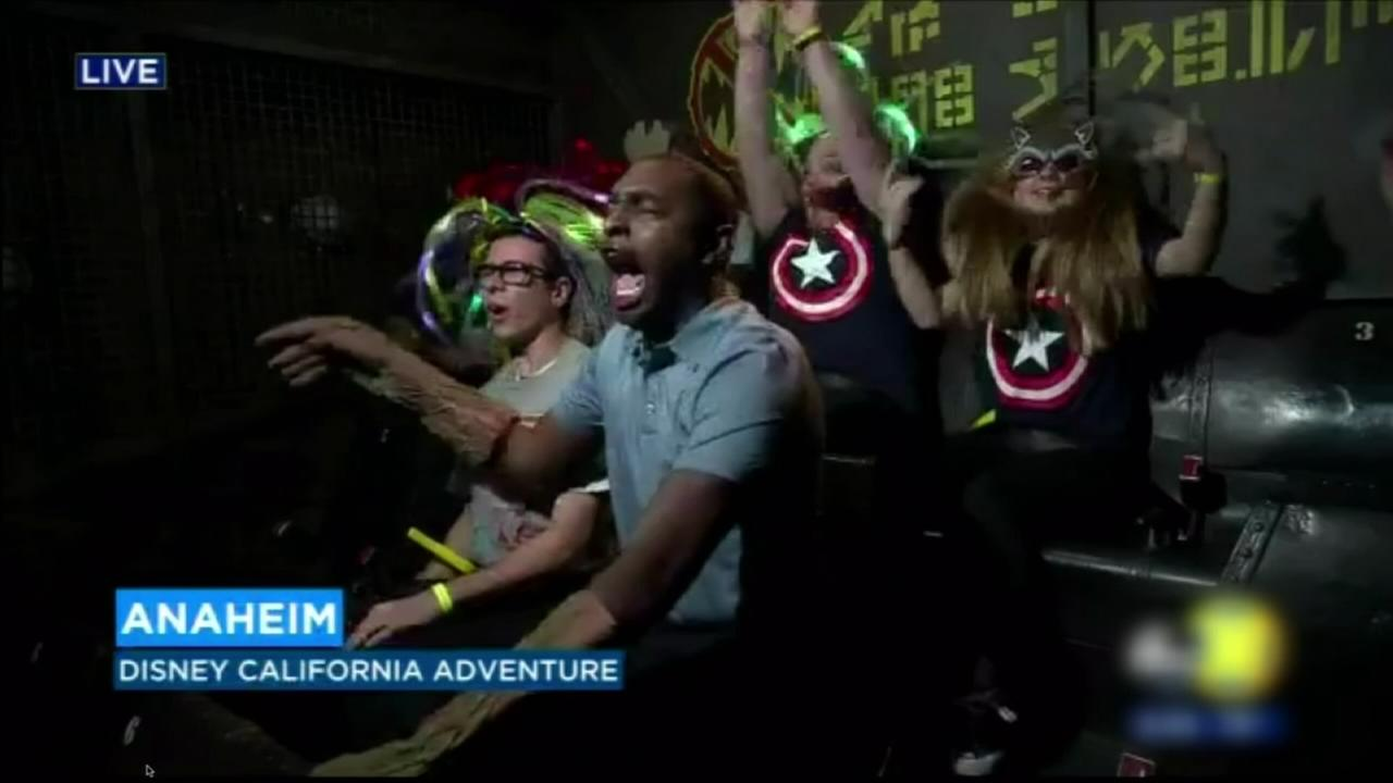 Jimmie Kimmel features Cory James preview of Guardians of the Galaxy ride