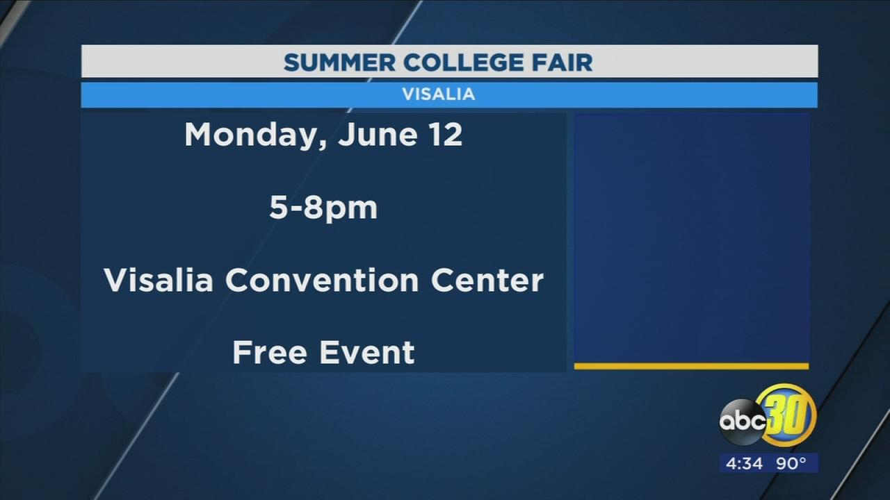 Organizers gearing up for summer college fair in Visalia