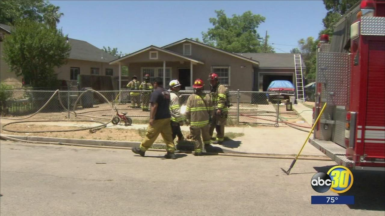 Fire at Fresno home displaces seven