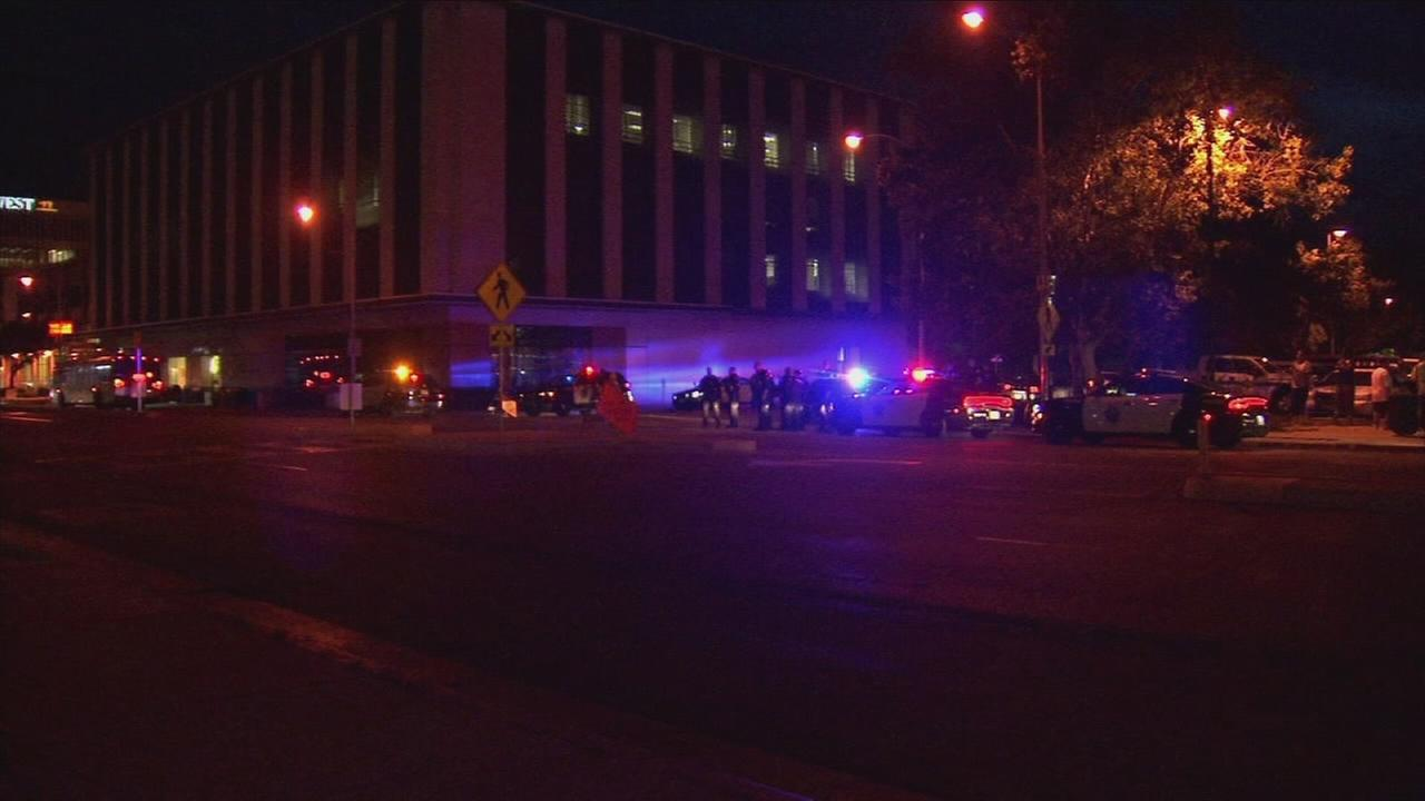 Multiple Downtown Fresno streets shut down after suspect runs from police