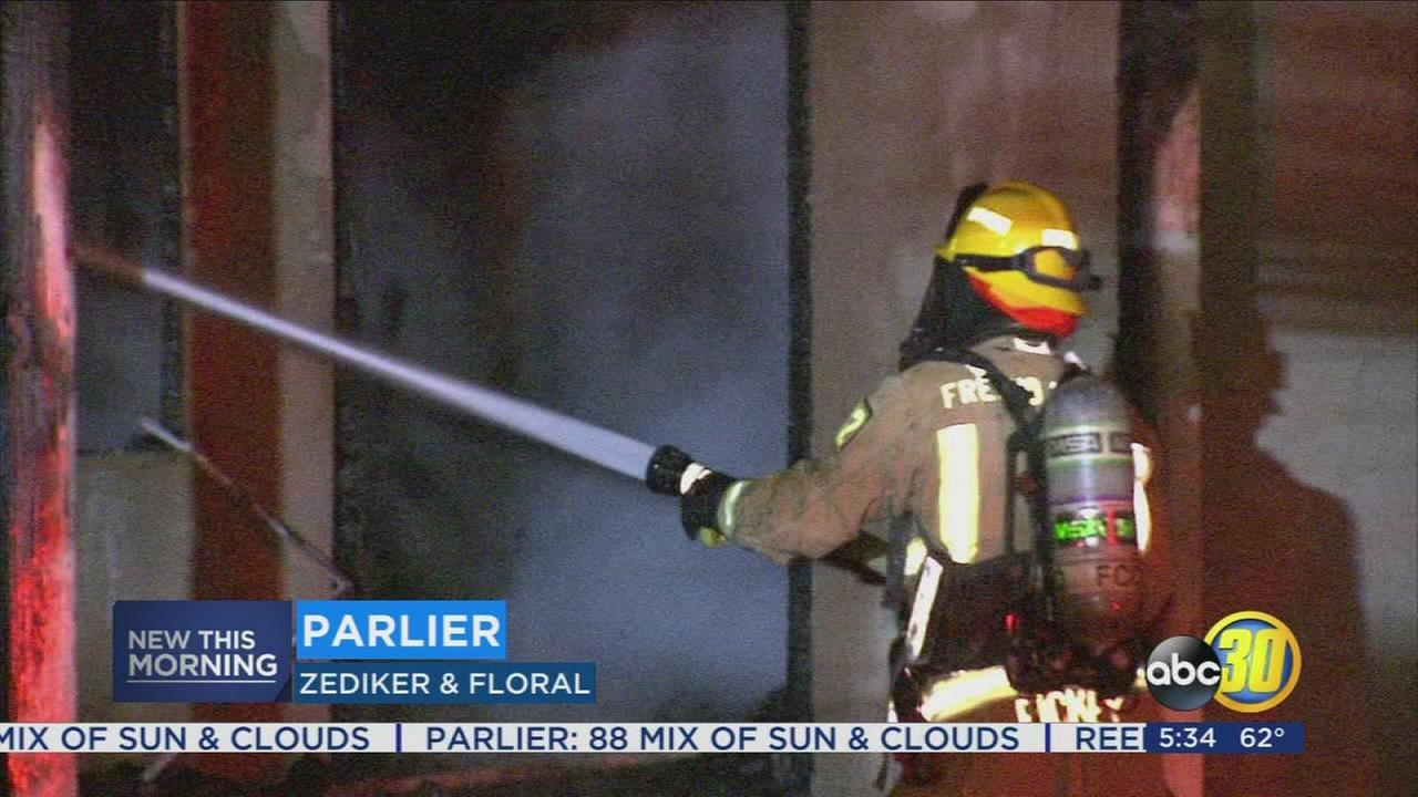 Fire burns home in Parlier