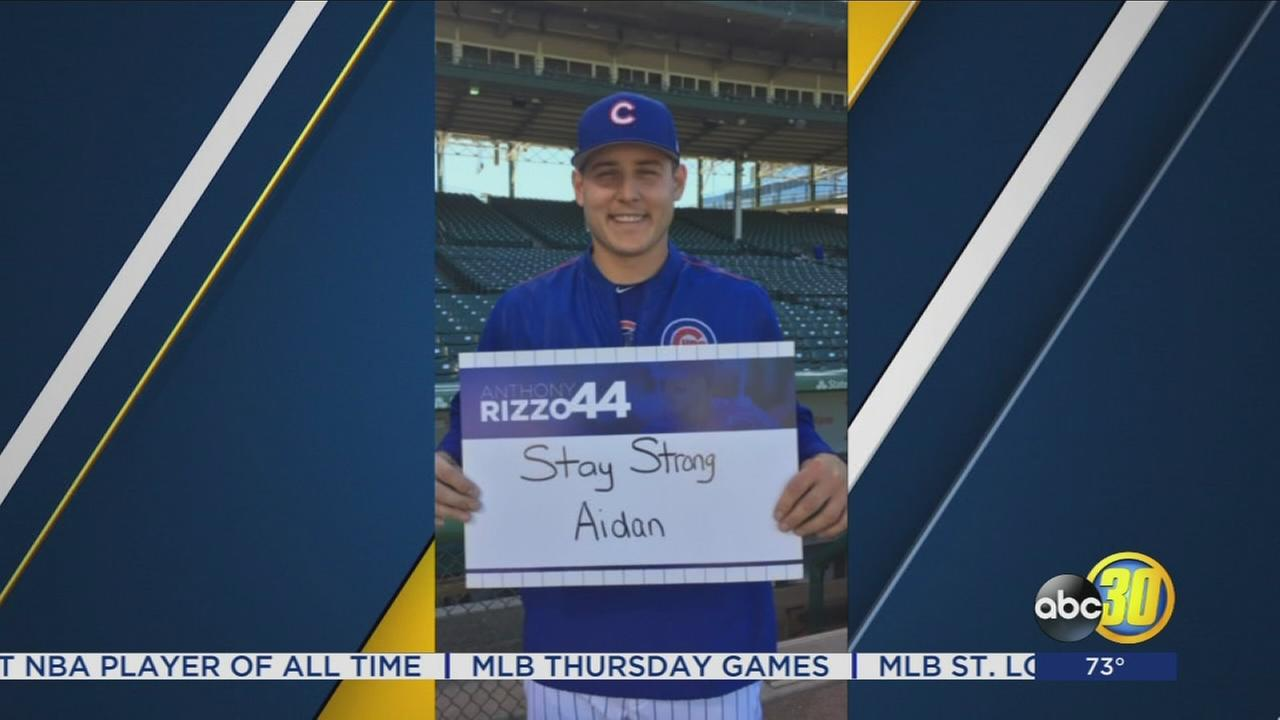 Chicago Cubs Star Anthony Rizzo offers Fresno boy encouragement