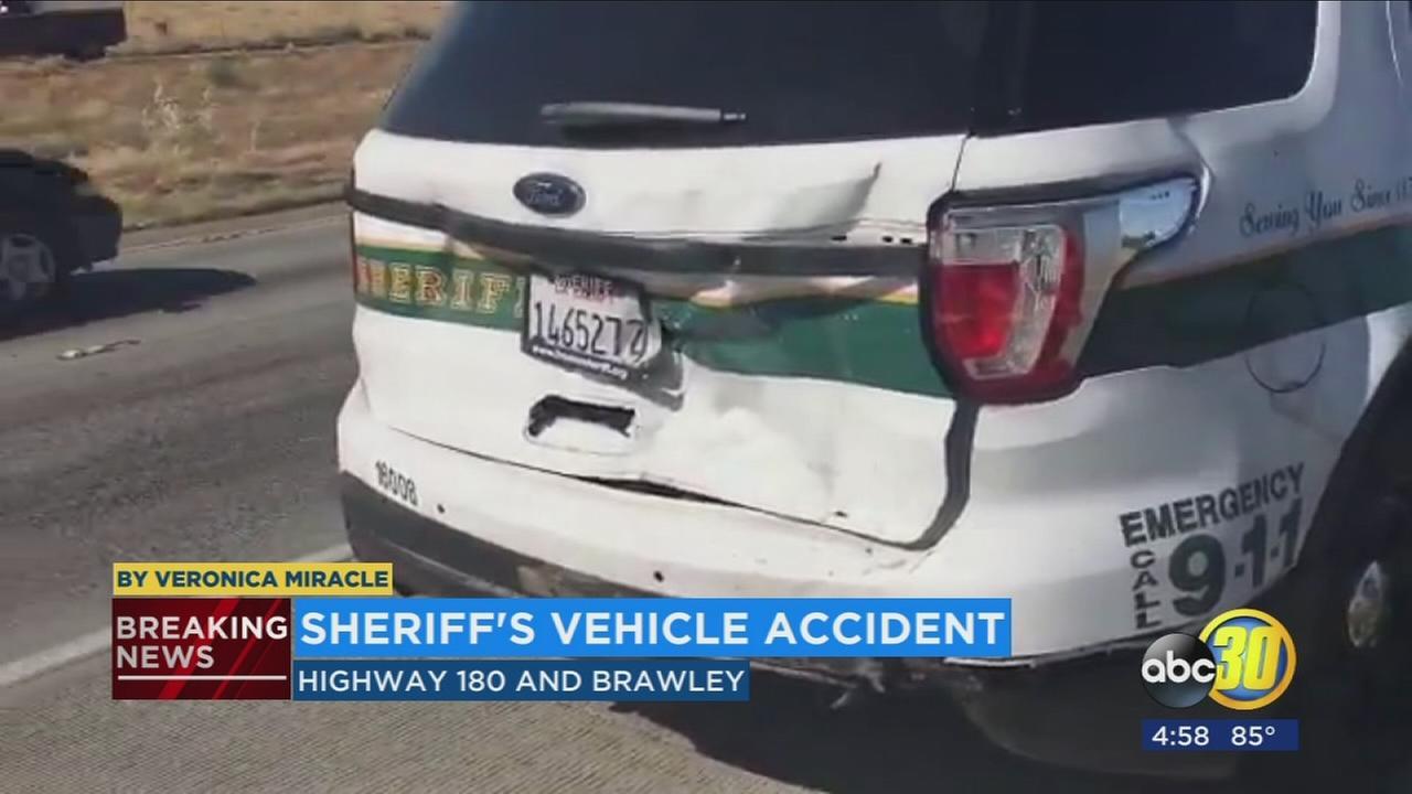 Fresno County Sheriff?s deputy involved in minor crash on Highway 180