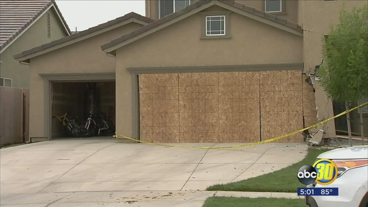 Atwater home owner asking for help after Drunk driver crashes into garage