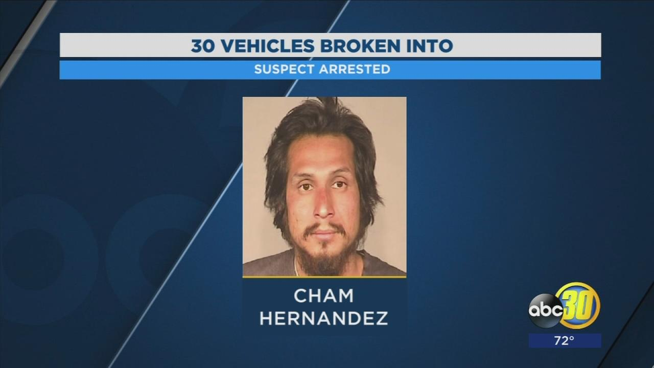 Fresno Police arrest suspect who they say broke into code enforcement vehicles