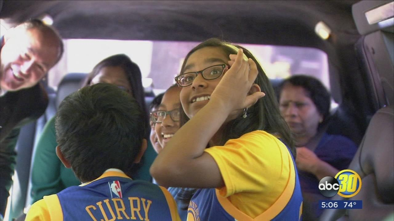 National Spelling Bee champion Ananya Vinay gets VIP treatment at Warriors game
