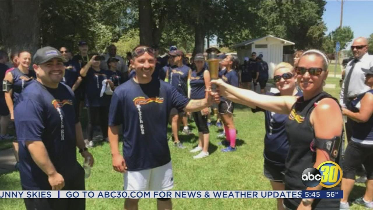 Law enforcement in Madera County raising awareness for Special Olympics with annual torch run