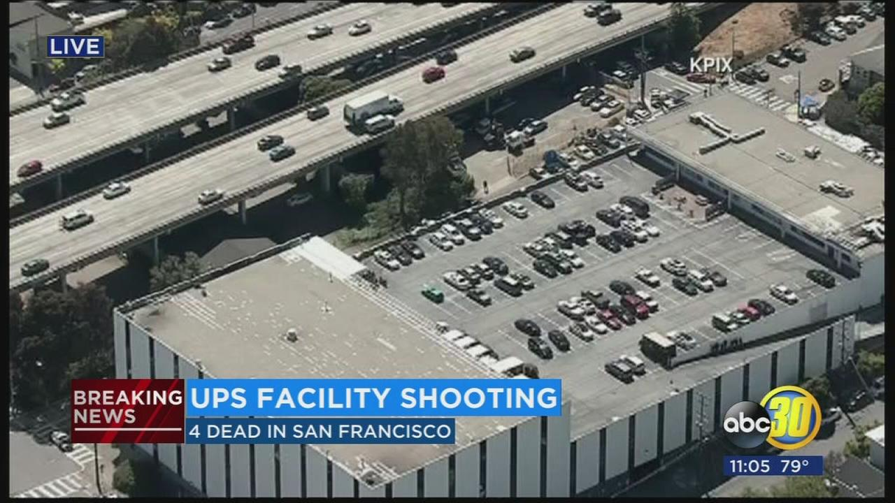 4 killed, gunman also dead, in shooting at SF UPS facility