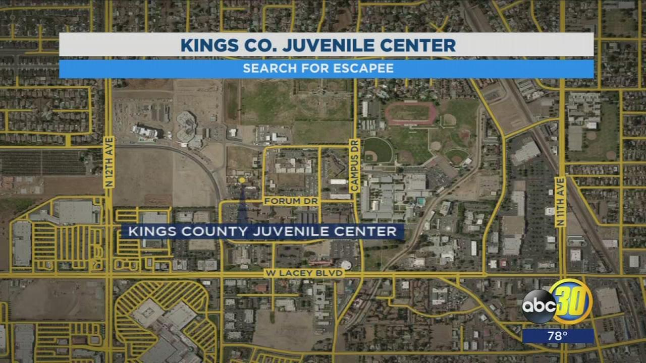Kings County Sheriffs Office looking for inmate who escaped from juvenile detention center