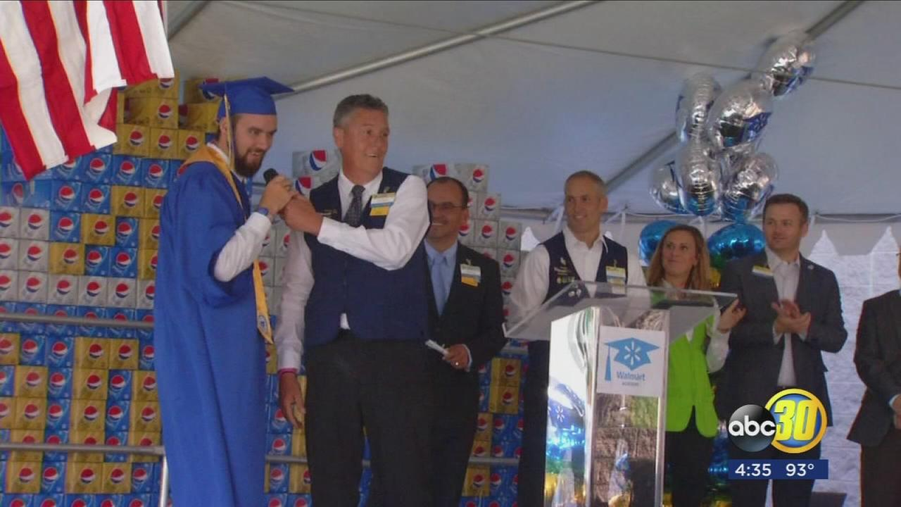 First graduates took the stage from Walmart Academy in Los Banos