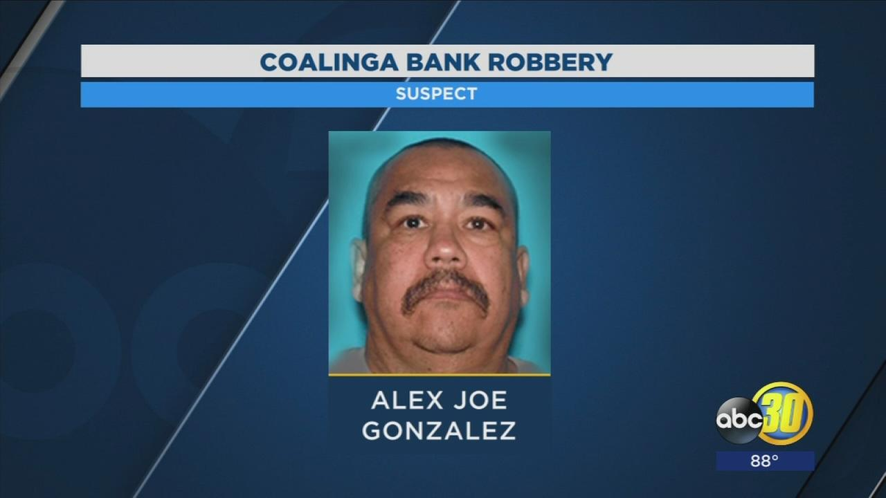 Police looking for suspect who robbed bank in Coalinga