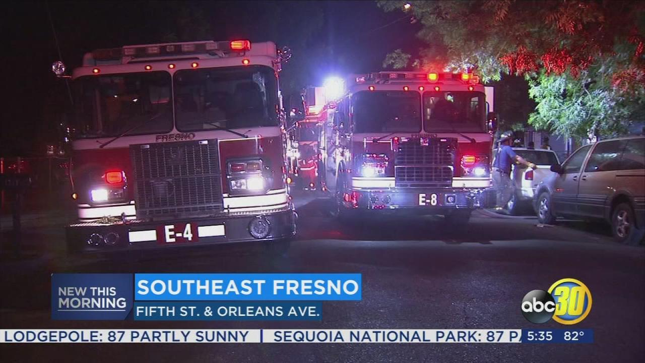 Eight displaced after house fire in Fresno