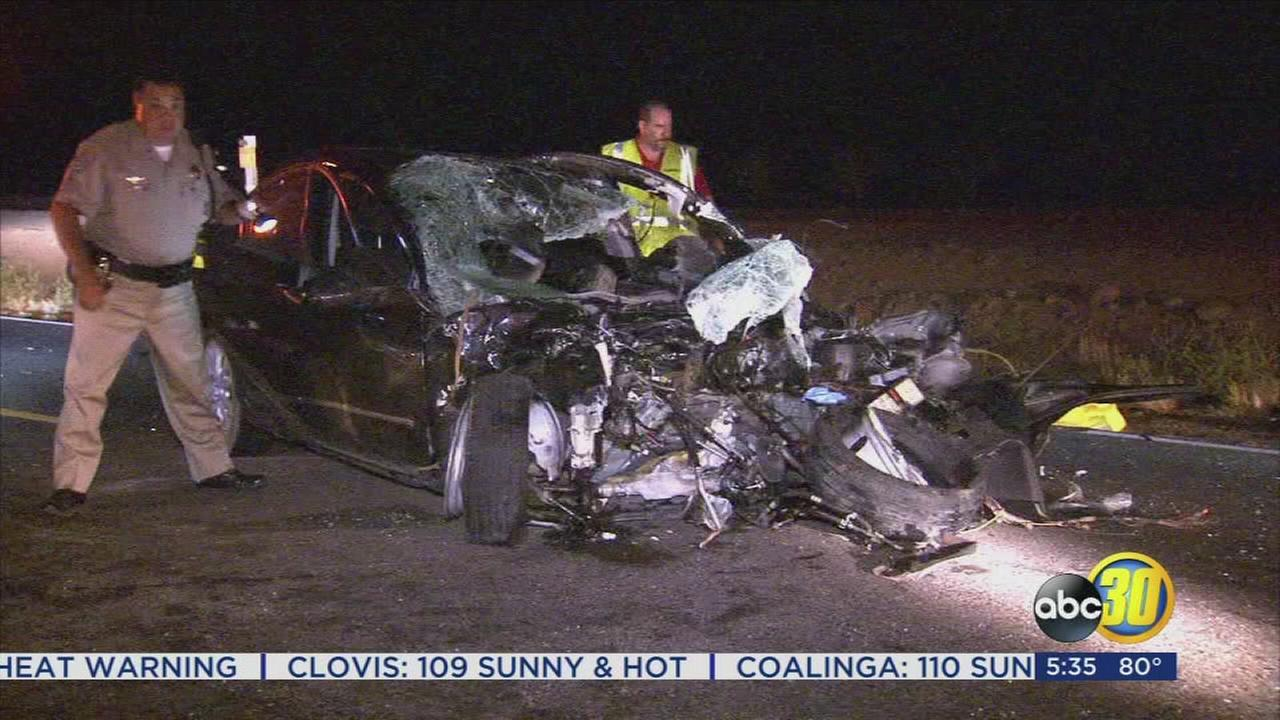 1 killed in three vehicle crash near Madera