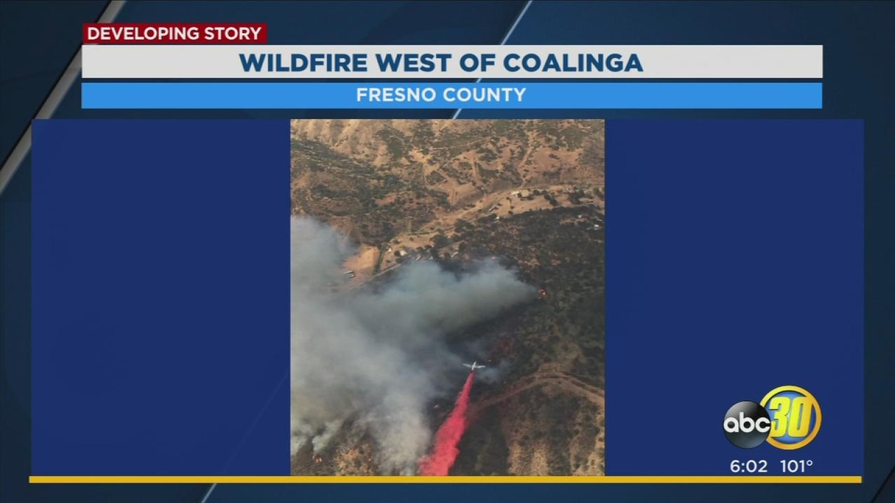 Wildfire near Coalinga forces evacuations