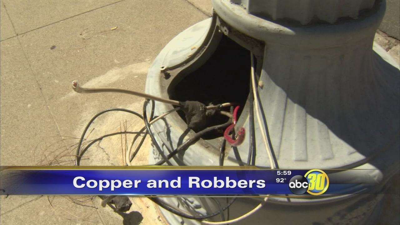 Copper thieves pick new target in Downtown Fresno