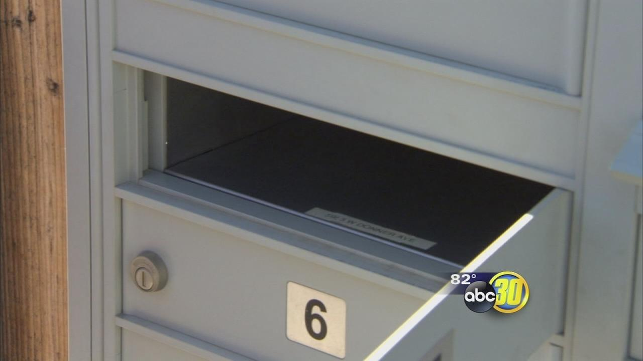 Thieves rip open community mailbox in NW Fresno
