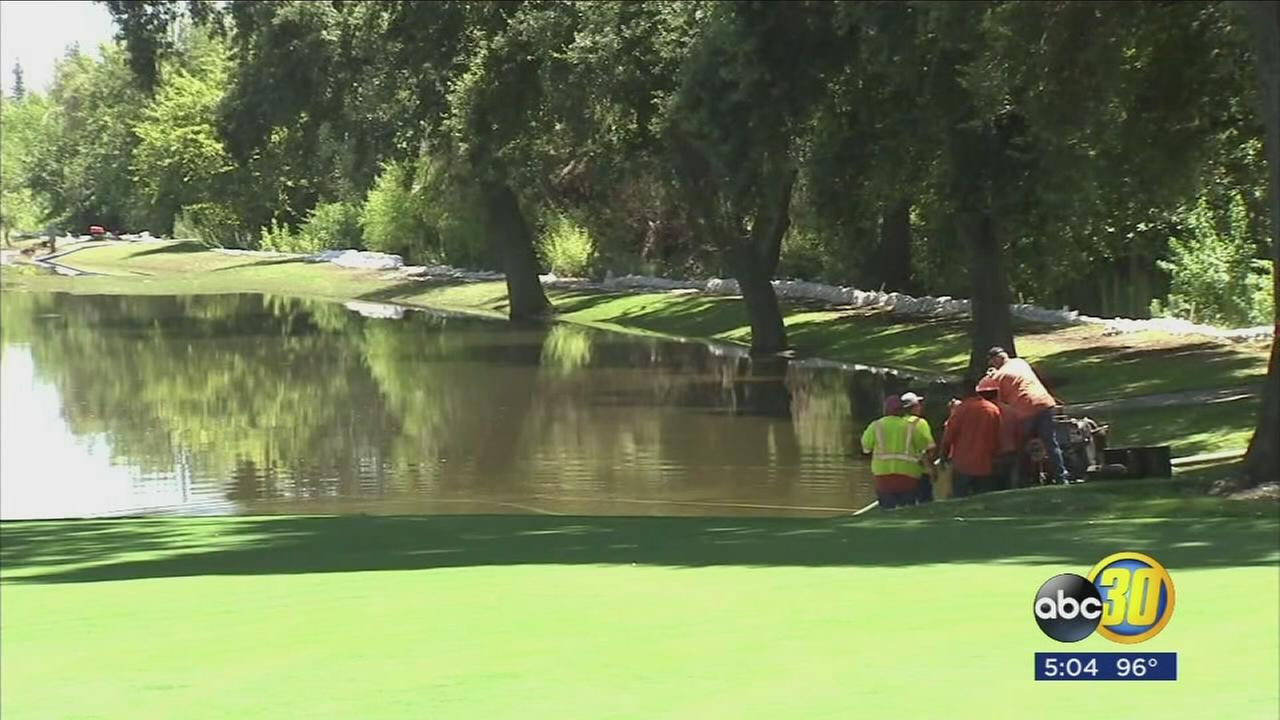 Crews scramble to repair broken levee near flooded Tulare County community