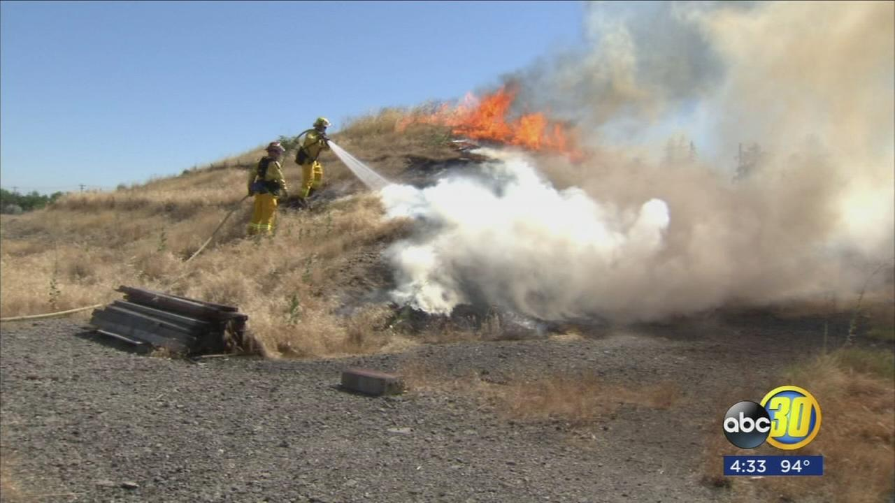 Valley fire agencies come together to demonstrate firework safety