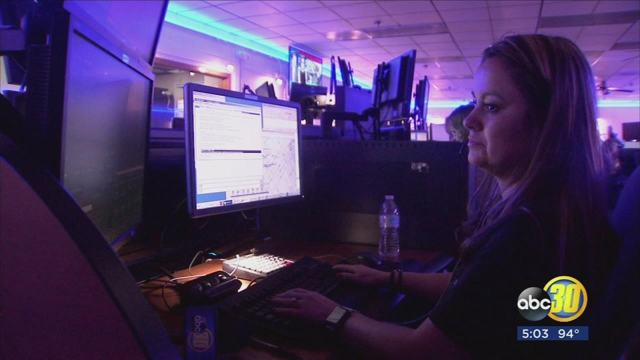 Fresno Police Department unveils newly remodeled dispatch center