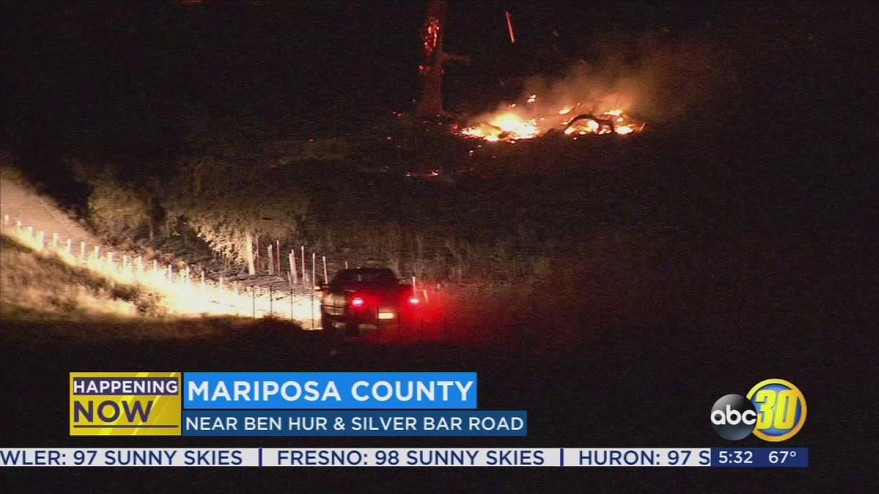 Ben Fire burns 400 acres in Mariposa County