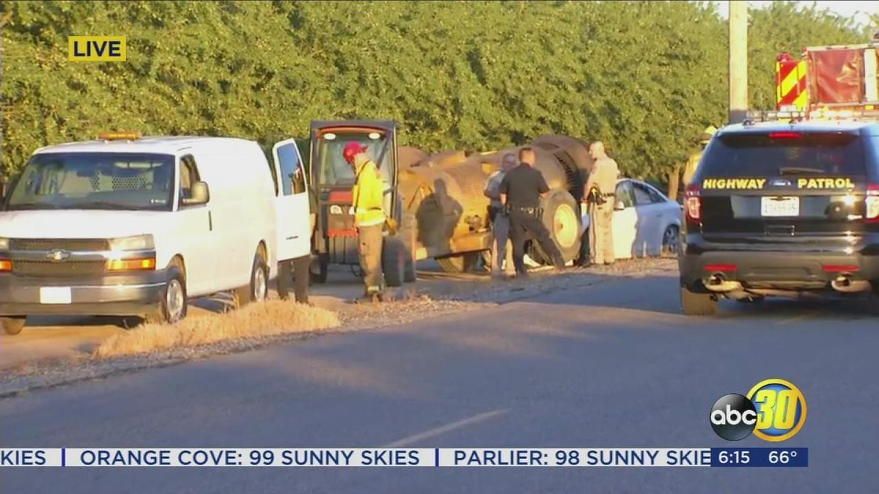Two dead after car and tractor collide in Fresno County