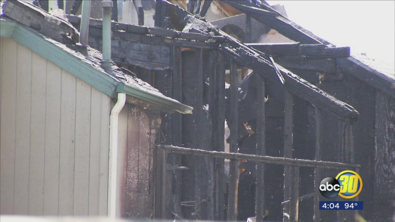 Three alarm apartment fire in East Central Fresno cause ruled accident