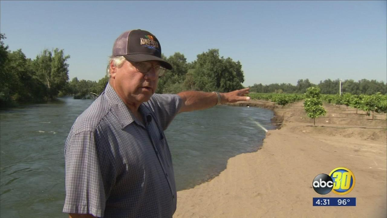 Farmers lose thousands of dollars worth of crop during Kings River flooding