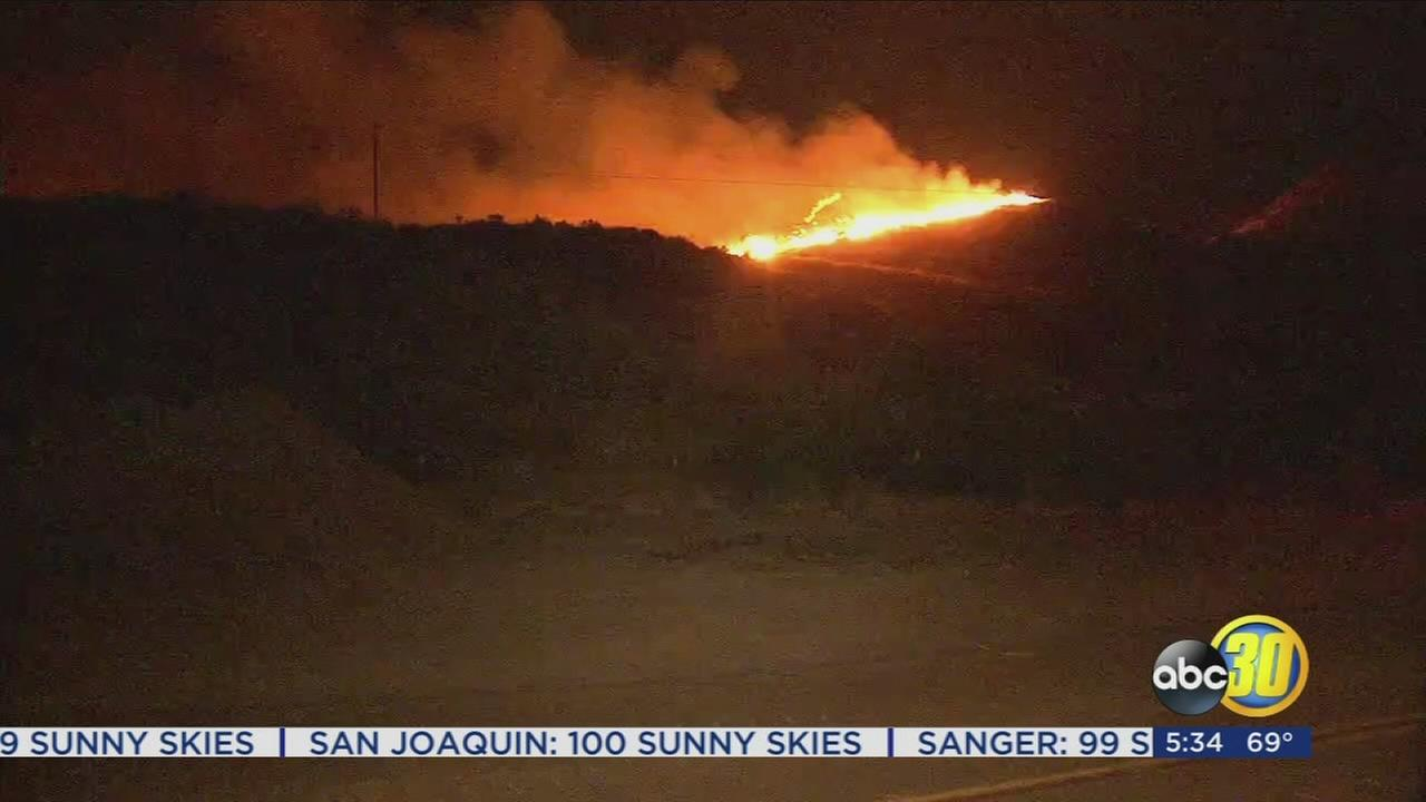 Wildfire breaks out near Coalinga