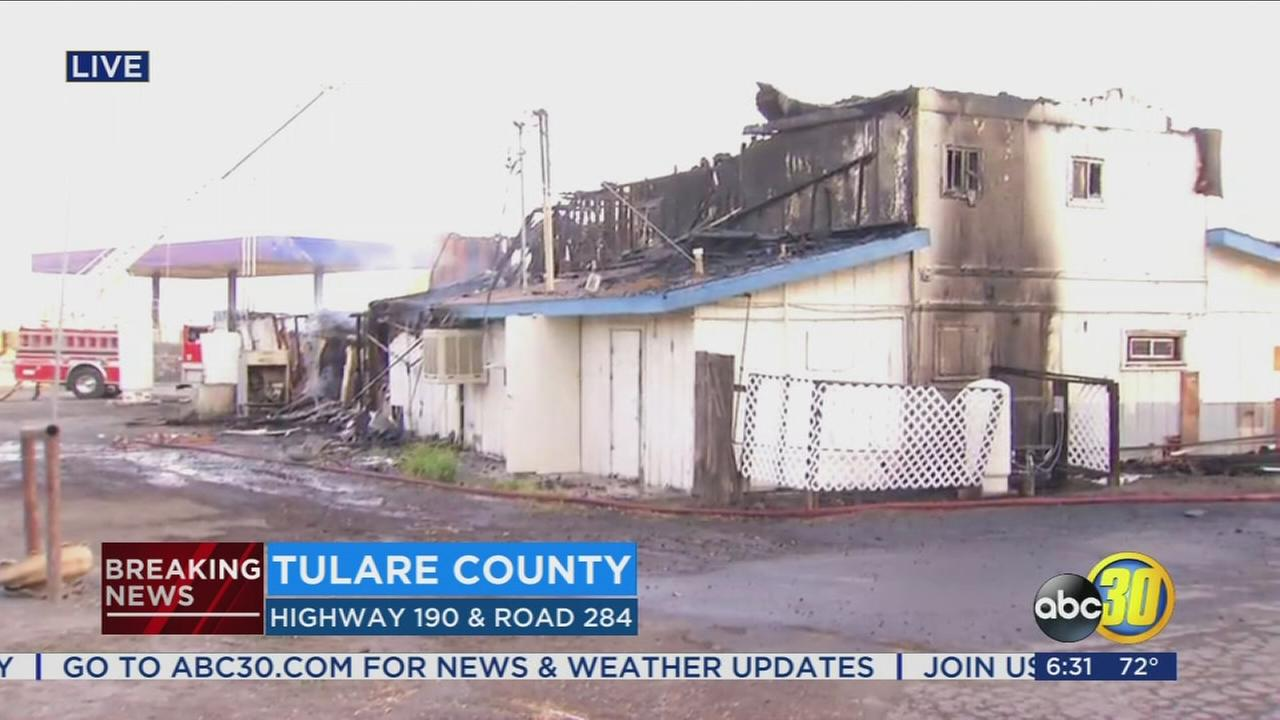 Abc 30 News Tulare County - Crews battle a gas station fire near porterville
