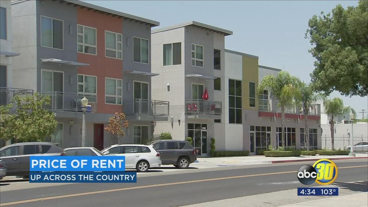 Price of rent is going up across the nation and in Fresno
