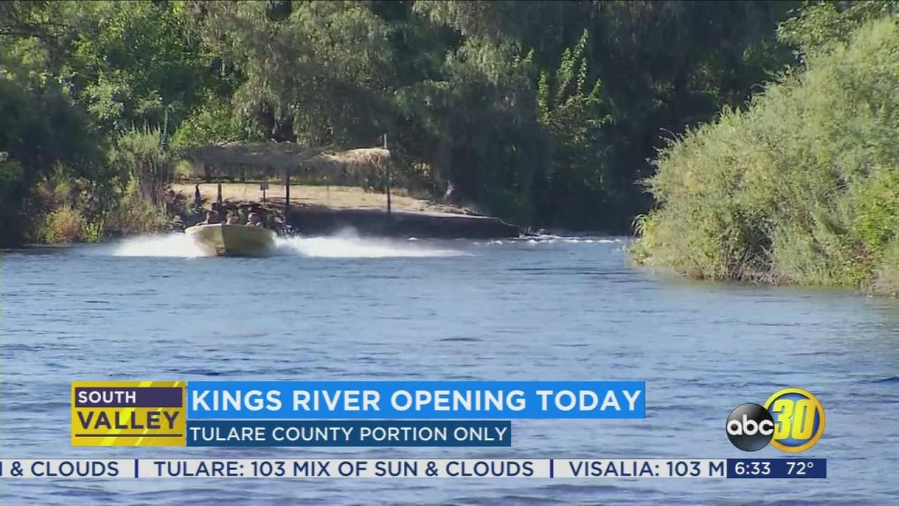 Kings River opens for recreation in Tulare County