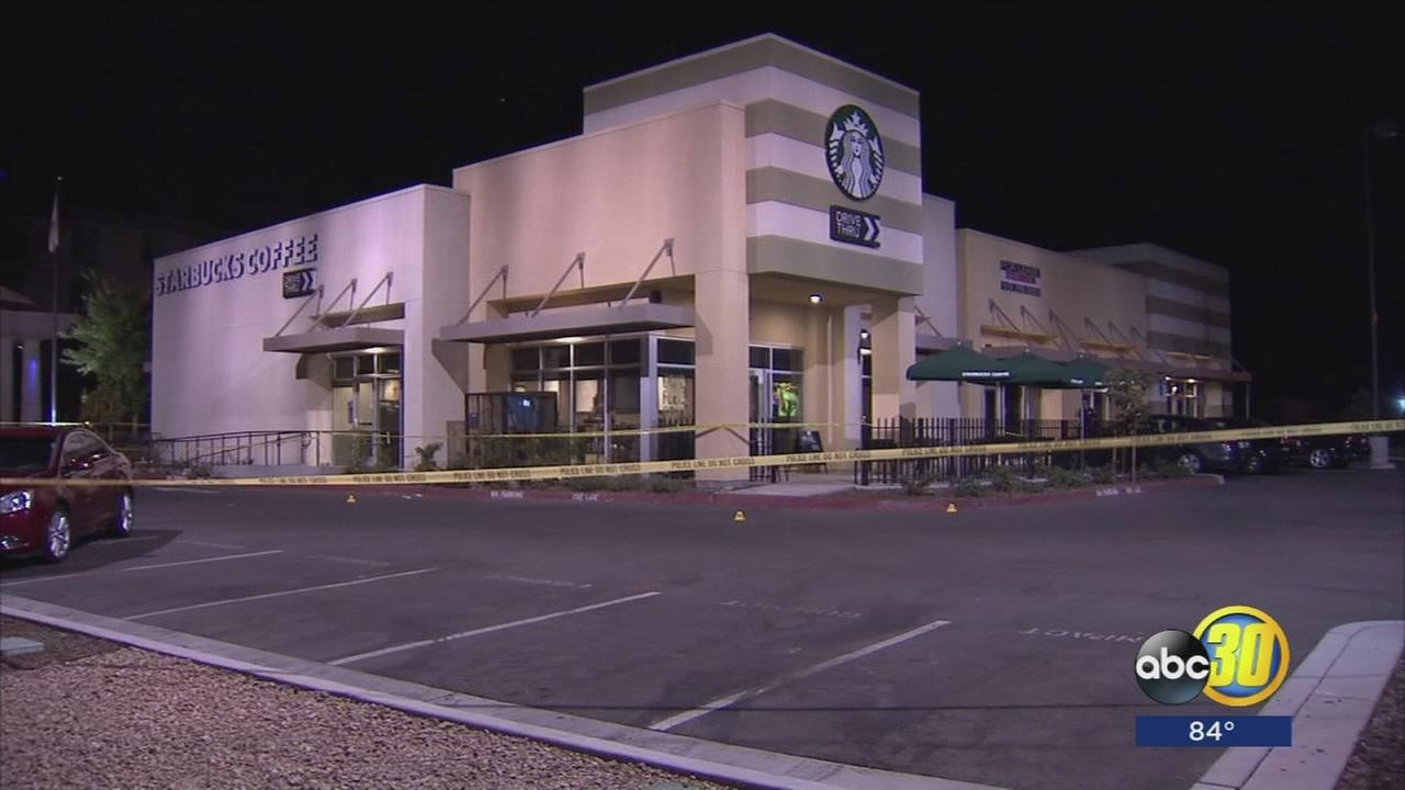 Police investigating stabbing after an attempted robbery at a Northwest Fresno Starbucks