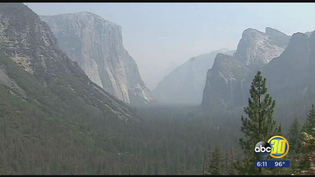 Detwiler Fire smoke spoils views for Yosemite National Park visitors