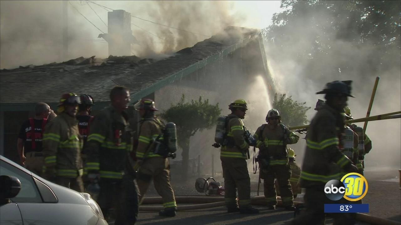 Fire erupts inside Sanger apartment complex
