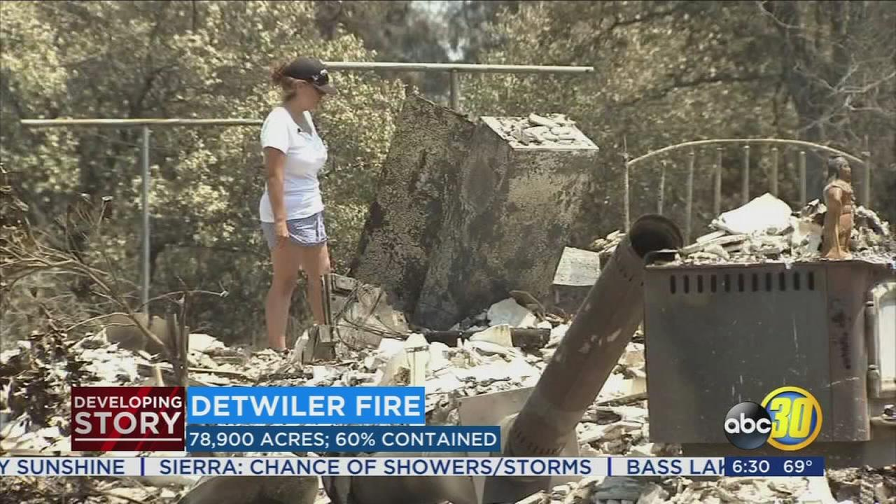 Resident work to recover from Detwiler Fire