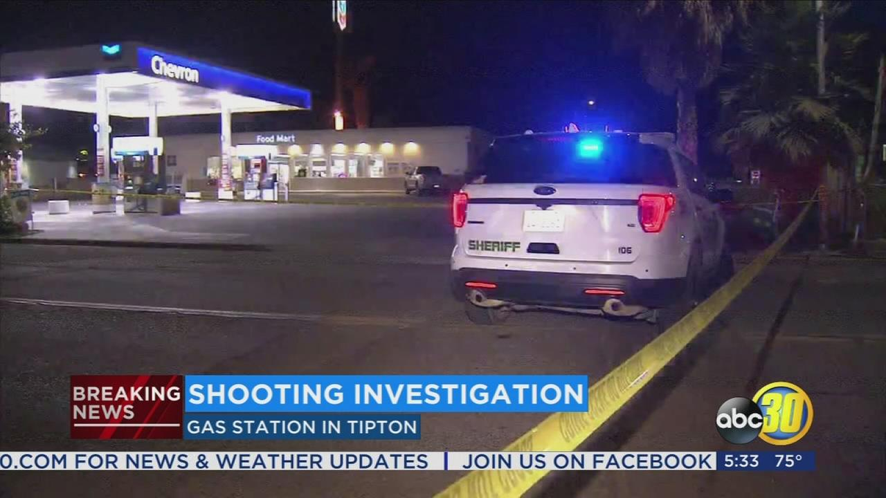 Woman hit by gun fire at Tipton gas station