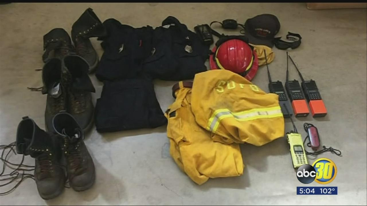 Equipment stolen from firefighters fighting Detwiler Fire recovered