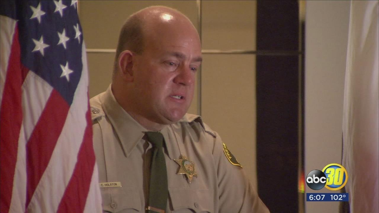 Fresno County Deputy receives award for a daring rescue of man trapped in raging floodwaters