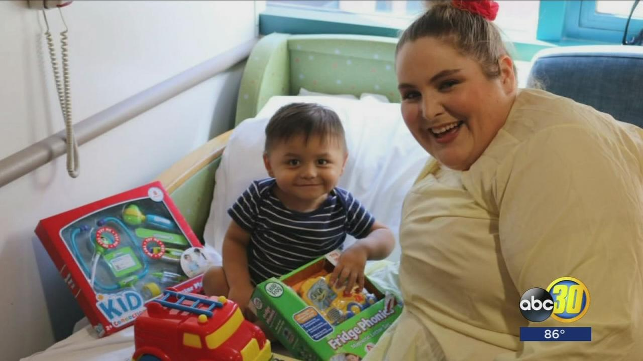 Some patients at Valley Childrens Hospital celebrated Christmas in July thanks to non-profit