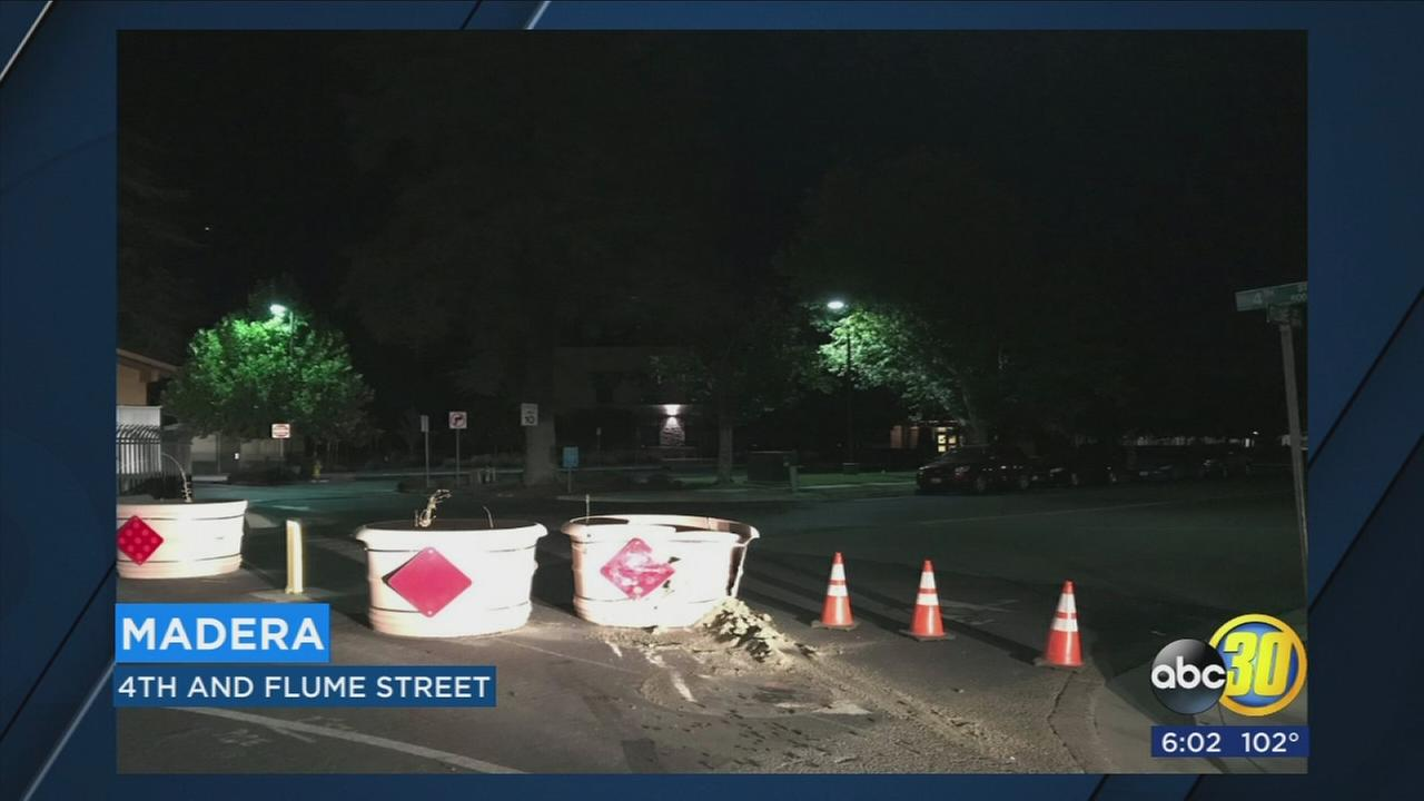 Madera Police looking for driver who crashed into barricades outside youth center