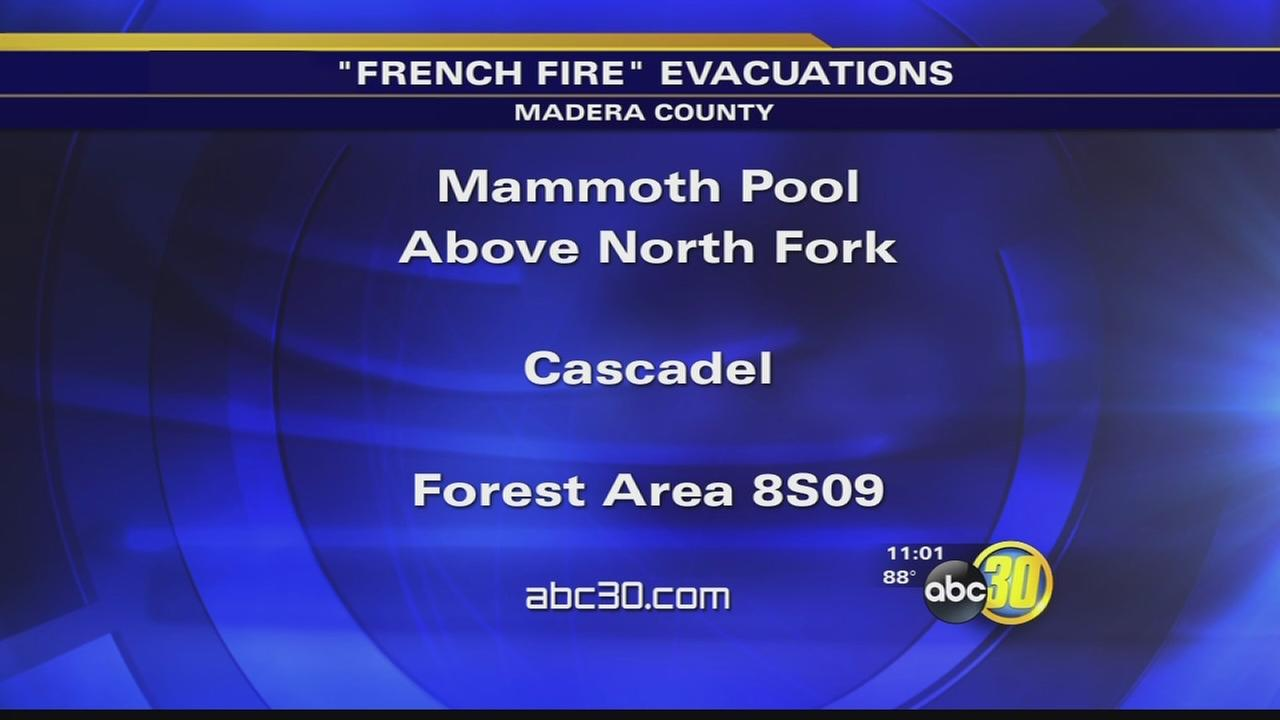 French Fire evacuations in place for the Mammoth Pool area