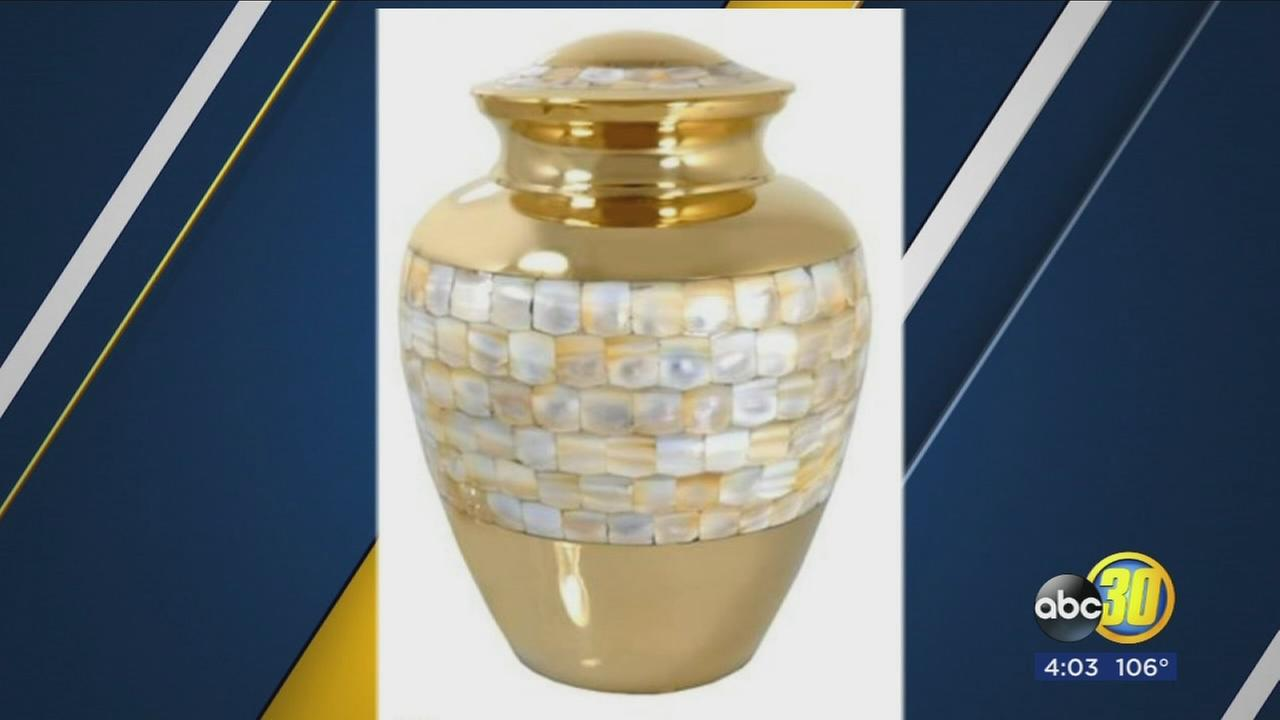 Fresno family pleading for public?s help in search for urn stolen with babys ashes inside
