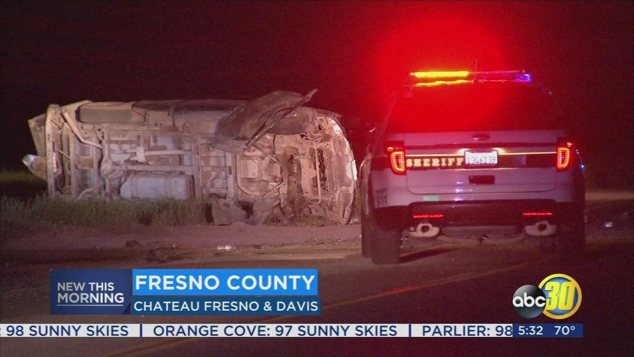 Driver dies after rollover crash in a rural part of Fresno County