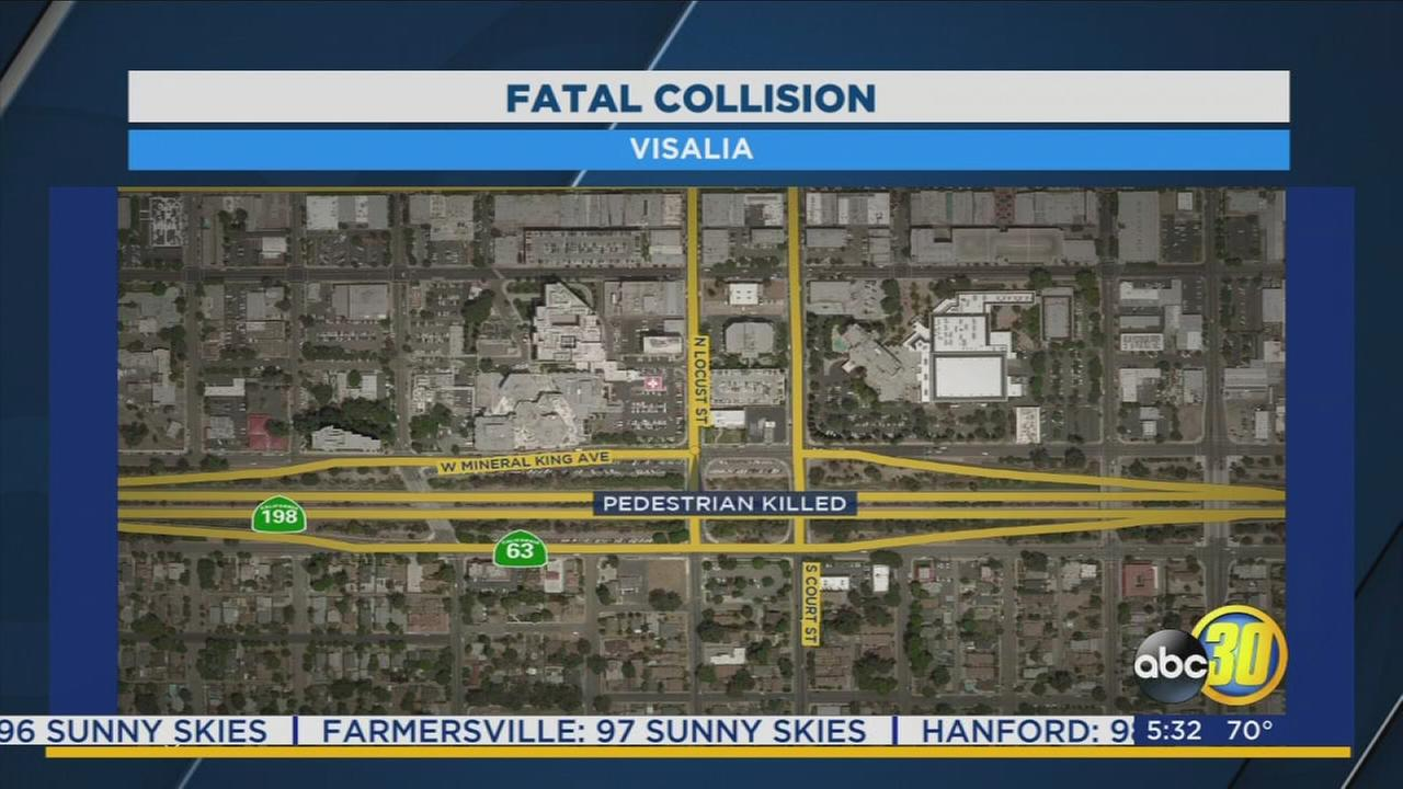 Visalia police investigate a crash that killed a pedestrian